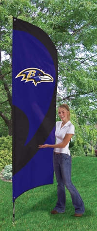 Baltimore Raves NFL Tall Team Flag with Pole
