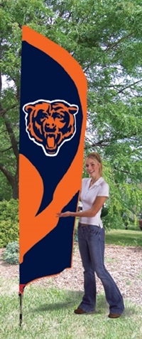 Chicago Bears NFL Tall Team Flag with Pole
