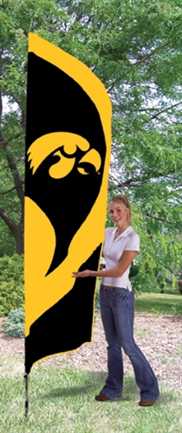 Iowa Hawkeyes Tall Team Flag with Pole