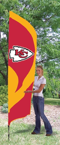 Kansas City Chiefs NFL Tall Team Flag with Pole