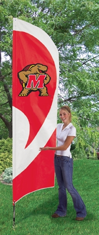 Maryland Terrapins Tall Team Flag with Pole