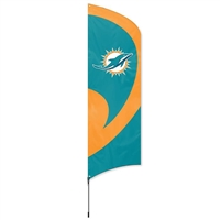 Miami Dolphins NFL Tall Team Flag with Pole