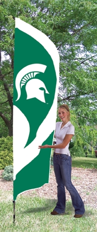 Michigan State Spartans Tall Team Flag with Pole