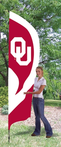 Oklahoma Sooners Tall Team Flag with Pole