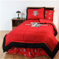 Texas Tech (TTU) Red Raiders Bed in a Bag Queen - With Team Colored Sheets