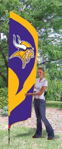 Minnesota Vikings NFL Tall Team Flag with Pole