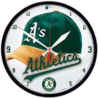 Oakland Athletics MLB Round Wall Clock