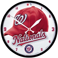 Washington Nationals MLB Round Wall Clock
