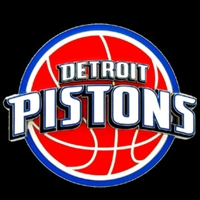 Large Logo-Only NBA Trailer Hitch Cover - Detroit Pistons