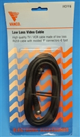 "Low Loss Video Cable - With Molded ""F"" Connectors - 6 Feet"