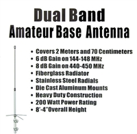 Workman UVS-200 Dual Band VHF / UHF Fiberglass Antenna - OUT OF STOCK