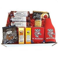 Badgers Deluxe Tailgating Gift Basket