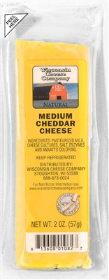 Medium Cheddar Cheese 2oz.