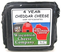7.75oz. 4 Year Old Yellow Cheddar Cheese Blocks