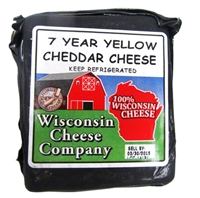 7 Year Old Yellow Cheddar Cheese Block 7.75oz.