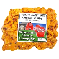 Tomato Sweet Basil Cheese Curds 12oz.
