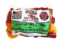Jalapeno Cheese Curds n Jalapeno Cheddar Sticks 12oz.