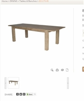 BEDFORD DINING TABLE W/EXTENTION