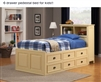 SIX DRAWER TWIN BED