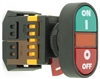 PB-22-GON-ROFF-Y-220V 22mm GREEN-ON,RED-OFF PUSH BUTTON WITH AMBER LED