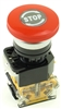 PBC-P22PMA-M40 22MM RED PUSH BUTTON MAINTAINED TWIST RELEASE 40MM MUSHROOM 1NO/1NC CONTACT BLOCK