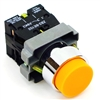 PBC-P22XTMO2-EO-11 DIRECT REPLACEMENT FITS TELEMECANIQUE ORANGE PUSH BUTTON,  EXTENDED MOMENTARY. 1NO/1NC ZB2BE101,ZBE102 CONTACT BLOCKS.