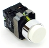 PBC-P22XTMO2-EW-11 DIRECT REPLACEMENT FITS TELEMECANIQUE WHITE PUSH BUTTON,  EXTENDED MOMENTARY. 1NO/1NC ZB2BE101,ZBE102 CONTACT BLOCKS.
