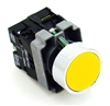 PBC-P22XTMO2-FY-11 DIRECT REPLACEMENT FITS TELEMECANIQUE YELLOW PUSH BUTTON  MOMENTARY FLUSH 1NO/1NC ZB2BE101,ZB2BE102 CONTACT BLOCKS. (YOU CAN ADD OR CHANGE THE CONTACT BLOCKS 2/NC OR 2NC CONTACT BLOCKS)