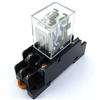 PBC-REM-2P10A-120VAC/SOCKET ICE CUBE GENERAL PURPOSE RELAY MINIATURE  BASE 8-BLADE 2PDT 10AMP 120V-COIL LY2  INCLUDED PBC-SOCKET-REM-2P10A SOCKET