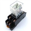 PBC-REM-2P10A-24VAC/SOCKET ICE CUBE GENERAL PURPOSE RELAY MINIATURE SQUARE BASE 8-BLADE 2PDT 10AMP 24V-COIL INCLUDED PBC-SOCKET-REM-2P10A SOCKET