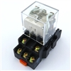 PBC-REM-3P10A-120VAC/SOCKET ICE CUBE GENERAL PURPOSE RELAY MINIATURE SQUARE BASE 11-BLADE 3PDT 10AMP 120V AC-COIL .INCLUDED SOCKET PBC-SOCKET-REM-3P10A