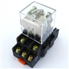 PBC-REM-3P10A-24VDC/SOCKET ICE CUBE GENERAL PURPOSE RELAY MINIATURE SQUARE BASE 11-BLADE 3PDT 10AMP 24VDC-COIL INCLUDED PBC-SOCKET-REM-3P10A