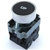 PBC-XB4BA21-UP DIRECT REPLACEMENT FITS TELEMECANIQUE 22MM UP BLACK FLUSH PUSH BUTTON WITH 1NO/1NC CONTACT BLOCK