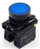 PBC-XB5AA61 REPLACEMENT FITS TELEMECANIQUE XB5AA61 22MM PUSH BUTTON BLUE  MOMENTARY 1NO/1NC