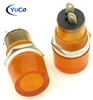 PACK OF 10 YuCo YC-15TRT-11A-24-N-10 AMBER NEON 15MM 24V AC/DC
