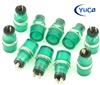 PACK OF 10 YuCo YC-15TRT-11G-12-N-10 GREEN NEON 15MM 12V AC/DC