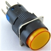 YC-16IMOM-YY-6 12V ILLUMINATED PUSH BUTTON