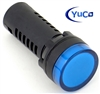 YuCo YC-22B-5 EUROPEAN STANDARD TUV CE LISTED 22MM LED PANEL MOUNT INDICATOR LAMP BLUE 480V AC