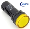 YuCo YC-22Y-5 EUROPEAN STANDARD TUV CE LISTED 22MM LED PANEL MOUNT INDICATOR LAMP YELLOW 480V AC