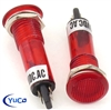 PACK OF 10 YuCo YC-9TRL-5R-24-N-10 RED NEON 9MM 24V AC/DC