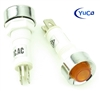 PACK OF 10 YuCo YC-9TRS-14A-12-N-10 AMBER NEON 9MM 12V AC/DC