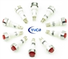 PACK OF 10 YuCo YC-9TRS-14R-24-N-10 RED NEON 9MM 24V AC/DC