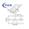YC-DR-1m YuCo FACTORY CUT 1m STEEL SLOTTED DIN RAIL 35mm X 7.5mm PR005 ASI RoHS