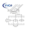YC-DR-2m-40 YuCo FACTORY CUT (40) x 2m STEEL SLOTTED DIN RAIL 35mm X 7.5mm PR005 ASI RoHS