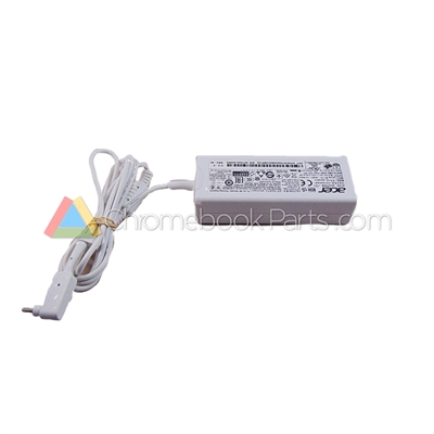 Acer 11 CB3-111 Chromebook AC Power Adapter, White - KP.04503.001