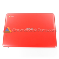 Asus 13 C300 Chromebook LCD Back Cover, Red
