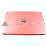 HP 14 Q-Series Chromebook LCD Back Cover, Peach Coral - WWAN Version