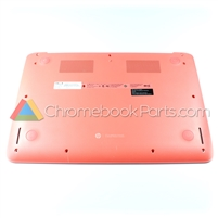 HP 14 Q-Series Chromebook Bottom Cover, Peach Coral - 740161-001