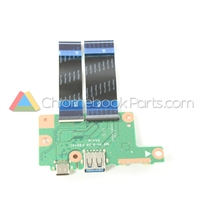 Acer 11 R751T Chromebook USB Daughterboard - 55.GPZN7.001