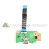 Asus 13 C300SA Chromebook USB Daughterboard - 60NB0BL0-IO1020